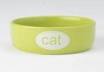 Cat Bowl - Ceramic Lime