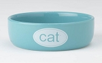 Cat Bowl - Ceramic Turquoise