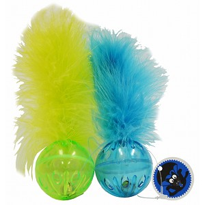Cat toy Lattice Ball with Feathers
