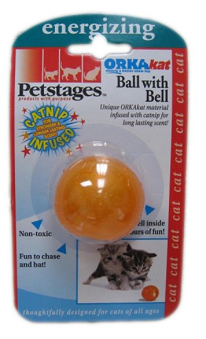 Petstages Orka Kat Ball with Bell