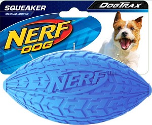 Nerf Dog Squeaker Tire Football Dog Toy