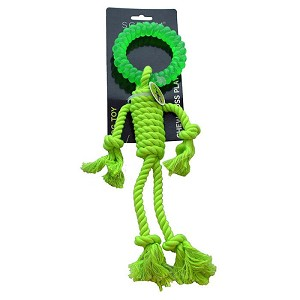 Scream Rope Man with Ring Head Tug Toy